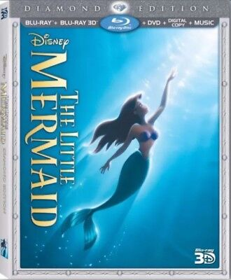 The Little Mermaid (1989) 3D + 2D Blu-Ray + DVD (Digital not included)