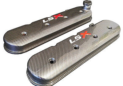 LSX Valve Covers Carbon Fiber Hydro Dipped Holley 241-405