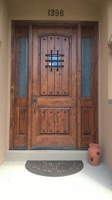 Tuscany 2 Panel Arched Top Entry Door With Half Lite Sidelites