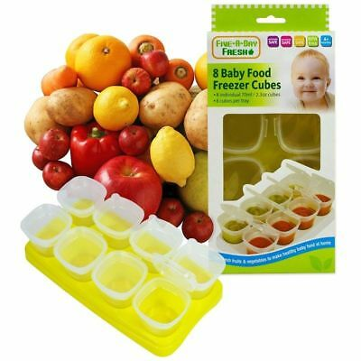 First Steps Baby Weaning Food Freezing Cubes Tray Pots Freezer Storage Contain