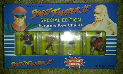 Street fighter 2 Special Edition Figurine Key Chains NEW 1992 Capcom