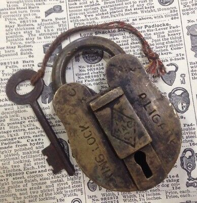 Vintage Brass Working ALIGARH Padlock With Key