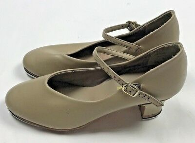 Illinois Theatrical Footwear Character Tap Shoes Womens Size 6.5 Tan Leo's