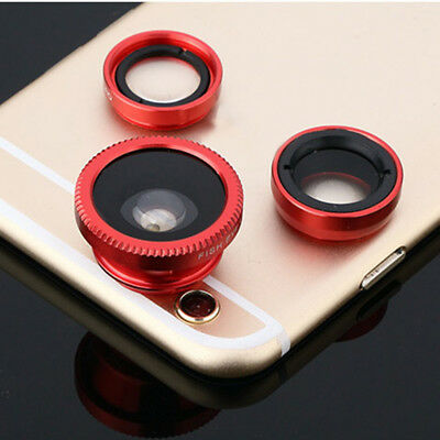 3in1 Weitwinkel Makro Fisheye Objektiv Set Universal Kamera Handy Linsen Set Hot