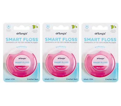 3x Dr Tung's Smart Dental Floss Chemical Free Oral Teeth Care Natural Flosser