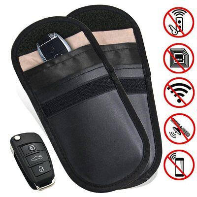 Lock Car Key Signal Blocker Keyless Entry Anti-Theft Fob Pouch Faraday Bag UK