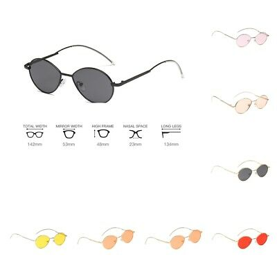 Women's Fashion Sunglasses Vintage Small Oval Frame Shades Trendy Glasses