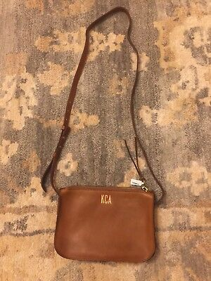 4dfb0910d30a Madewell The Simple Crossbody Bag English Saddle Leather New Monogram KCA