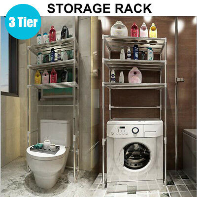 Storage Rack Over Toilet/Bathroom/Laundry/Washing Machine Shelf Unit Organizer