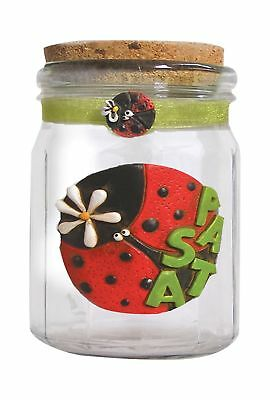 Paolo Clear Ladybird Pasta Low, Glass Door/marmoresina/Cork/Organza, Multi-Co...