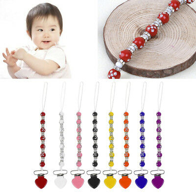 Baby Pacifier Clips Chain Infant Toddler Soother Holder Dummy Nipple Holder Gift