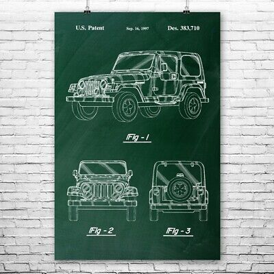 Jeep Wrangler Poster Print Jeep Lover Gift Off Roading Mudding Four Wheel Drive