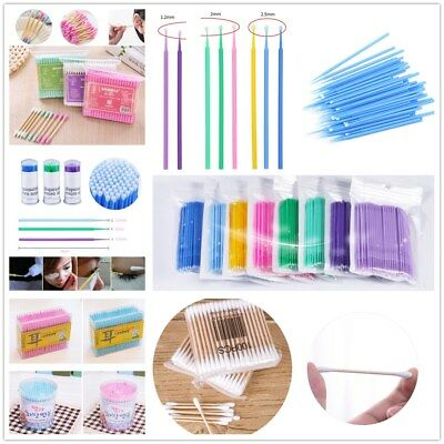 100Pcs Girl Eyelash Extension Micro Swab Brush Disposable Glue Removal Stick New