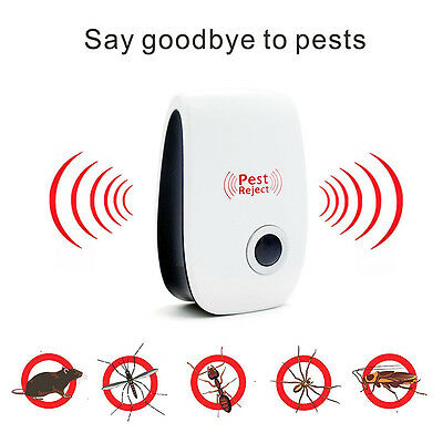 5x Electronic Pest Ultrasonic Repeller Reject For Insect Flies Roaches Ants Mice