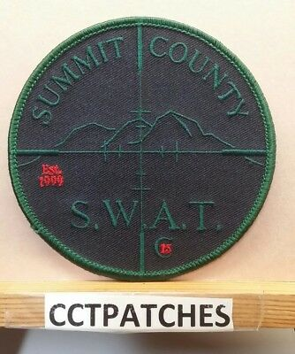 Summit County, Colorado Sheriff Swat Subdued (Police) Shoulder Patch Co