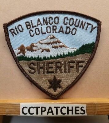 Rio Blanco County, Colorado Sheriff (Police) Shoulder Patch Co