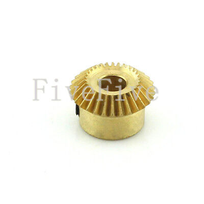 30T 5/6mm Bore 0.5 Modulus Metal Umbrella Tooth 90° Pairing Bevel Gear 30 Teeth