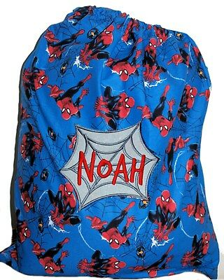 Personalised drawstring library bag - Spiderman