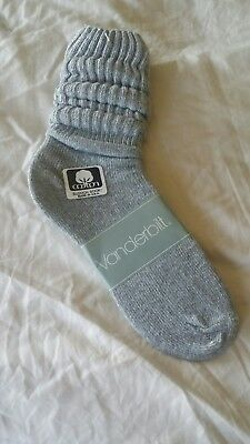 VINTAGE New  Cotton SLOUCH Baggy Socks  Gray - 1980's