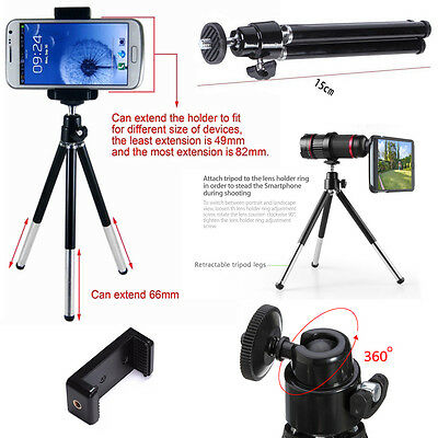Stand Rotate Mini Tripod Holder For All Cameras, iPhone Samsung Sony HTC & Nokia