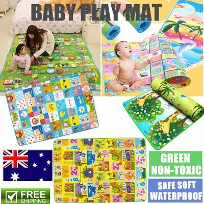 Waterproof 2mx1.8m Baby Kids Floor Play Mat Rug Picnic Cushion Crawling Mat SW