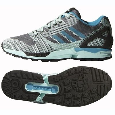 86729d86c Adidas Originals ZX Flux Weave B34898 Onix Frost Mint Black Men s Shoes