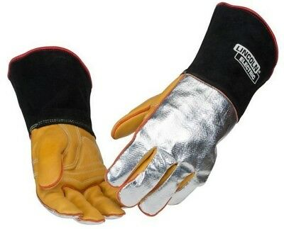 Lincoln ALUMINISED HEAT RESISTANT WELDING GLOVES 1Pair Size-XL *USA Brand