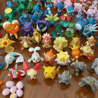 24 x Pokemon Go Action Figures with ball Pikachu Pop-up lot kid toys 2018 Hot