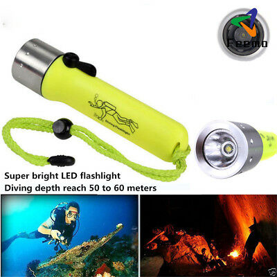 Flashlight 2000LM Diving CREE XM-L T6 3W LED Waterproof Torch Underwater Lamp