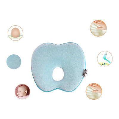 Anti Roll Neck Newborn Support Infant Baby Flat Head Memory Pillow US