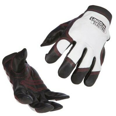 Lincoln LEATHER STEELWORKER WELDING GLOVES Size-L 1Pair, Hook & Loop Wrist Tab