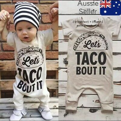Newborn Baby Boy/Girl Infant Jumpsuit Cotton Funny one peice cute gift outfit