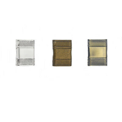 2Sets Antique Silver/Bronze/Polish Strong Magnetic Clasp Fit 16*3mm Flat Leather