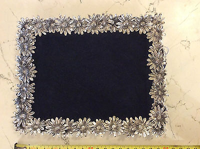 Ra Trays Silver 800/°°° ref. 1659 Daisies new with box -30%