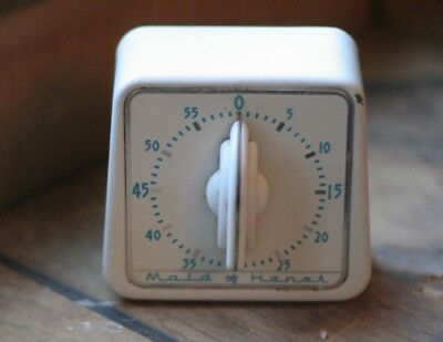 Vintage Maid Of Honor Lux Clock MFG Co Waterbury Conn USA Kitchen Timer WORKS