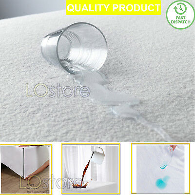New Anti Allergy Terry Cotton Waterproof Mattress Protector Fitted Protect Sheet
