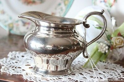 Antique Royal Vale England Milk in Silver Plated H cm8,5 Creamer English Vintage