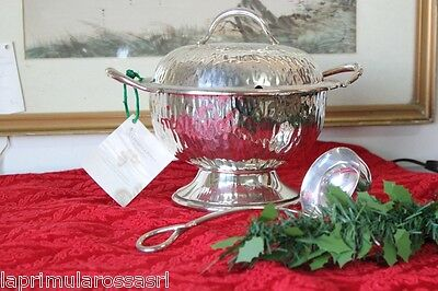 Precious Soup Tureen Period in Sheffield with Ladle Vegetable Vintage Epns Bowl