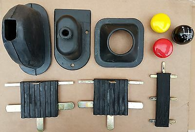 Land Rover Series 2 & 3 Interior Refurb Kit Pedal Rubbers, Gear Knobs & Gaiters