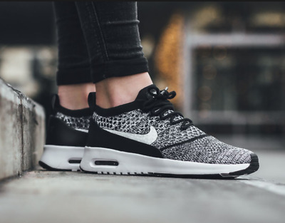 ecc1fadb2775 New womens NIKE Air Max Thea Ultra Flyknit sneakers shoes Black White 7 7.5  8