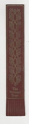 The National Trust. Burgundy Leather English Bookmark.
