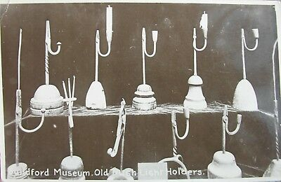 Old Rush Light Holders The Museum Guildford Surrey Early Rp Pc