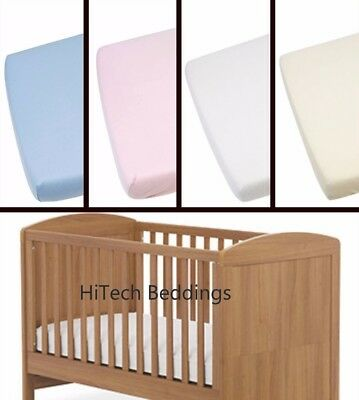 Nursery Kids Cot Bed / Toddler Bed Fitted Sheet Moses Basket Mattress Cover