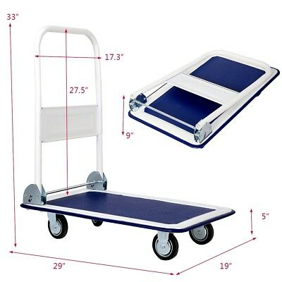 Platform Cart Dolly Folding Foldable Moving Warehouse Push Hand Truck Rolling US