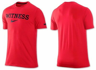 NIKE - LEBRON James Shirt - Red WITNESS Crown Dri-Fit - Mens Small ... 03340467d