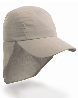 Result Children's Legionnaire Cap Sun Protection Ear Neck Flap Cover Hat Holiday