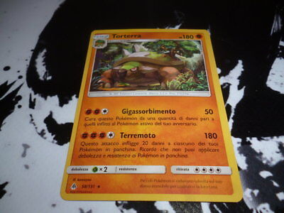 58//131 IN ITALIANO RARA TORTERRA CARTA POKEMON PS 180
