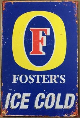 FOSTERS  Garage Rustic Look Vintage Tin Signs Man Cave, Shed & Bar SIGN