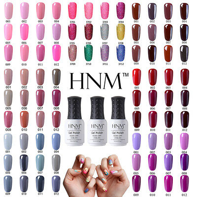 HNM Neon Nude Grey Purple Gel Nail Polish Soak Off Primer Sealer UV LED Varnish