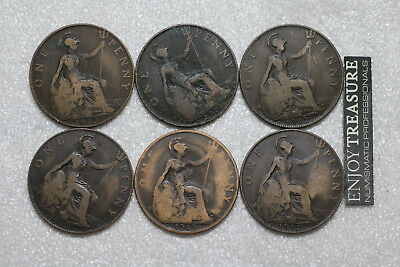 Uk Gb Heaton Penny's Scarce Lot Of Coins A72 Jj46